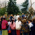 tábortűznél búcsúztunk a régi iskolánktól