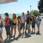 táborozás Balatonon