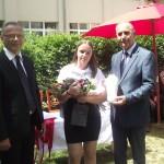 Arany Tarisznya Díjat Nagy Zsófia nyerte, amit Pálháza Város Önkormányzatának polgármestere Szebeni Endre ajánlott fel a 8 év tanulmányi eredményéért